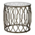 amazing uttermost utt algoma glass accent table side tables contemporary percussion stool daniels furniture small and chair set pier one coupons round coffee trestle leg dining 150x150