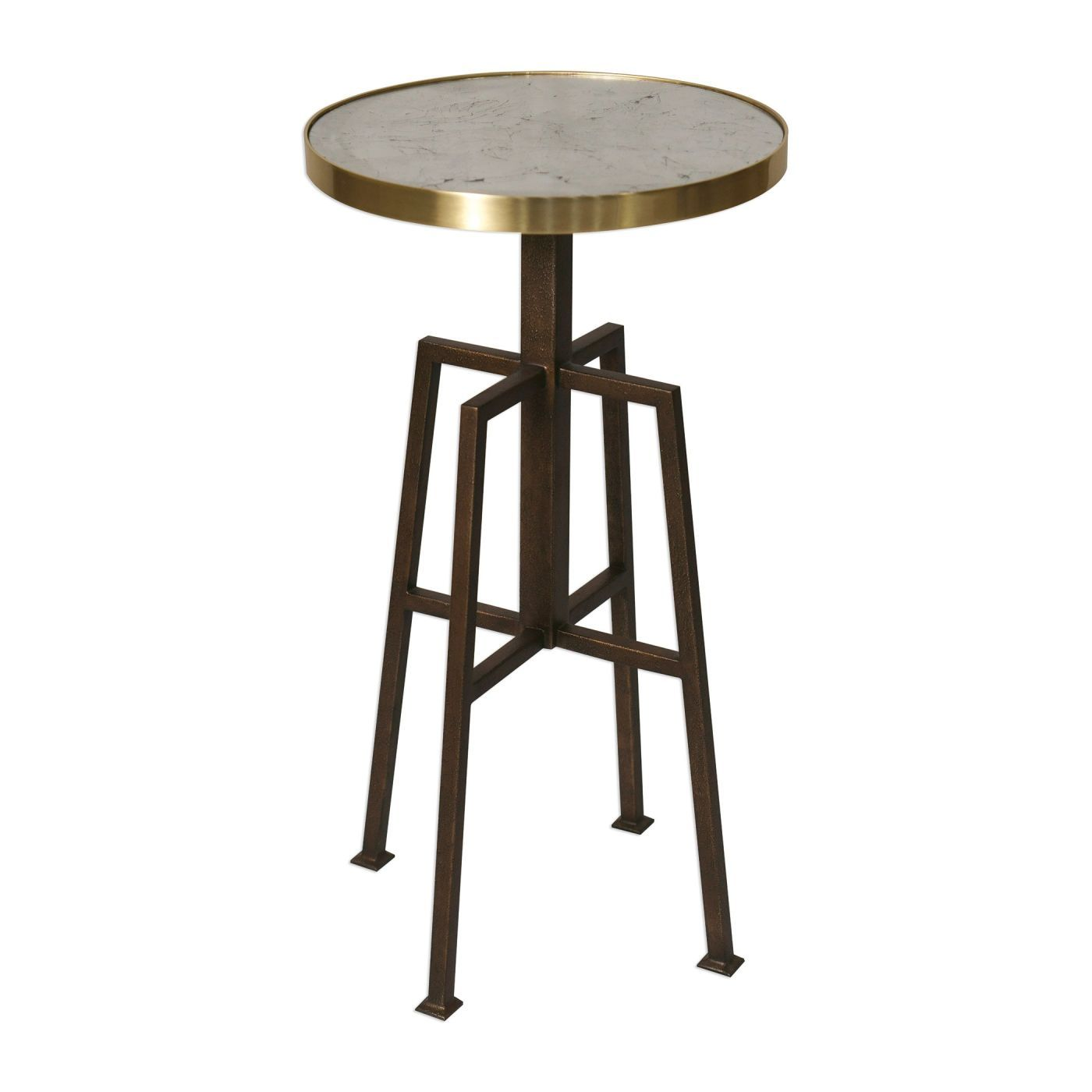 amazing uttermost utt gisele round accent table side tables textured aged bronze outdoor bistro with umbrella hole timber cherry mission end bar height dining room sets marble