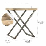 american art decor wood and metal folding card end side accent table free shipping today wooden dining chairs tall bar set white round with drawer target entry plastic outdoor 150x150