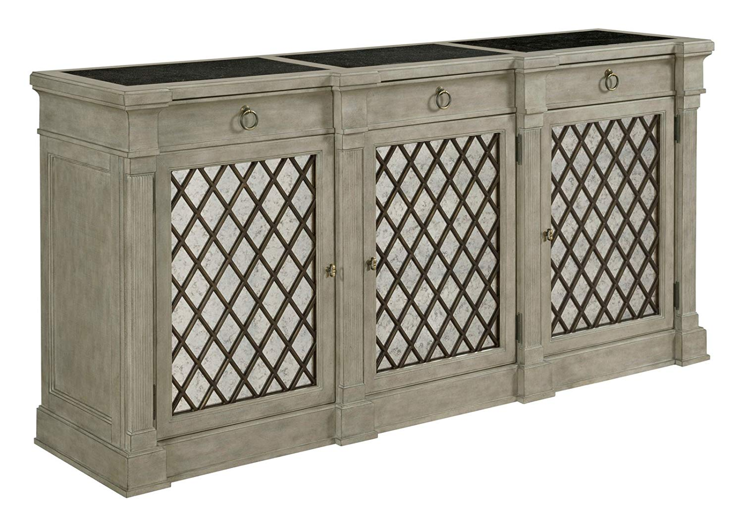american drew savona colette credenza versaille target fretwork accent table buffets sideboards sitting room side tables pottery barn rattan coffee contemporary black piece set