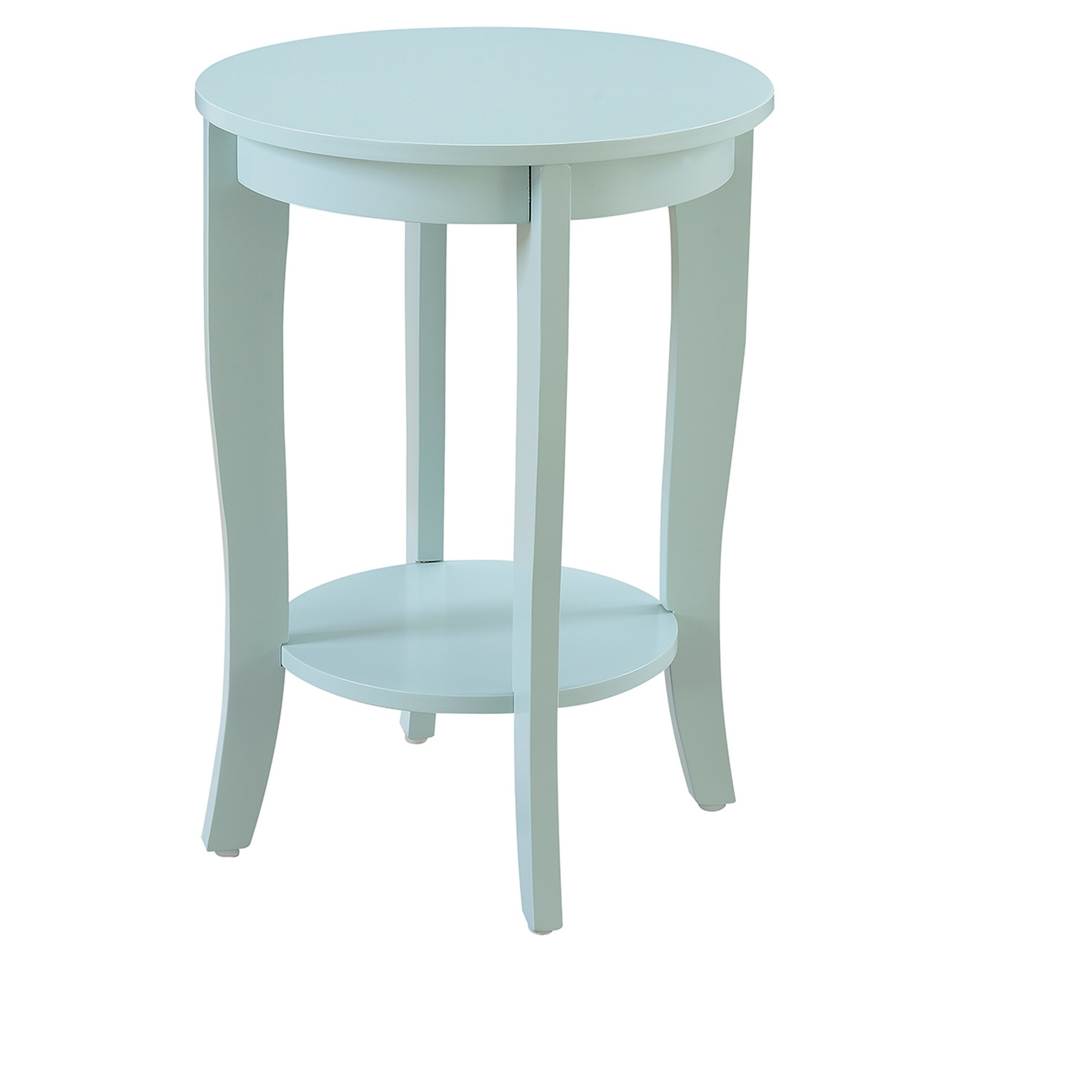 american heritage round end table sea foam blue johar teal accent target furniture floor pieces sofa with shelves tablecloth and napkins set kidney side drawer file cabinet ashley