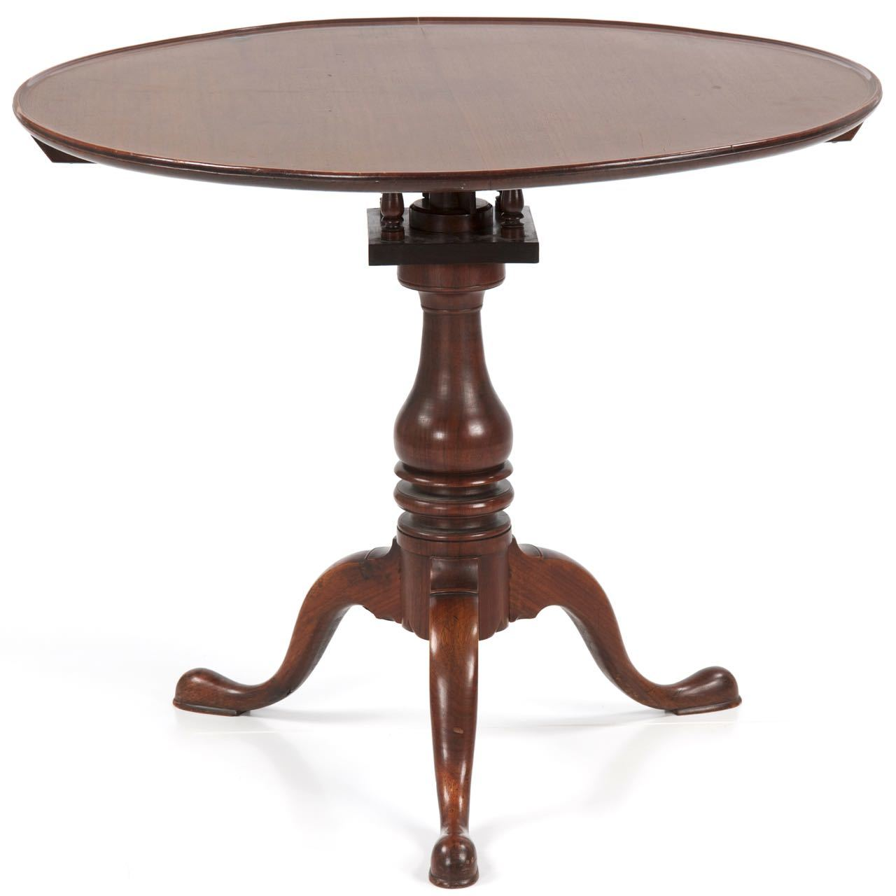 american queen anne walnut tilting tea table chester county antique eugene accent high top dining set large patio cover small and chairs round industrial coffee garden parasol