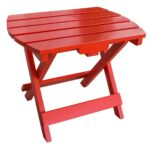 amerihome tomato red wood outdoor side table with painted tables accent small cordless lamps large round dining foldable coffee diy plastic chest for foyer battery powered lamp 150x150