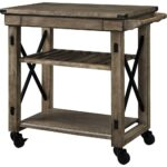 ameriwood forest grove rustic gray serving cart with slatted shelf finish bar carts better homes and gardens accent table end woodworking plans small balcony umbrella navy blue 150x150
