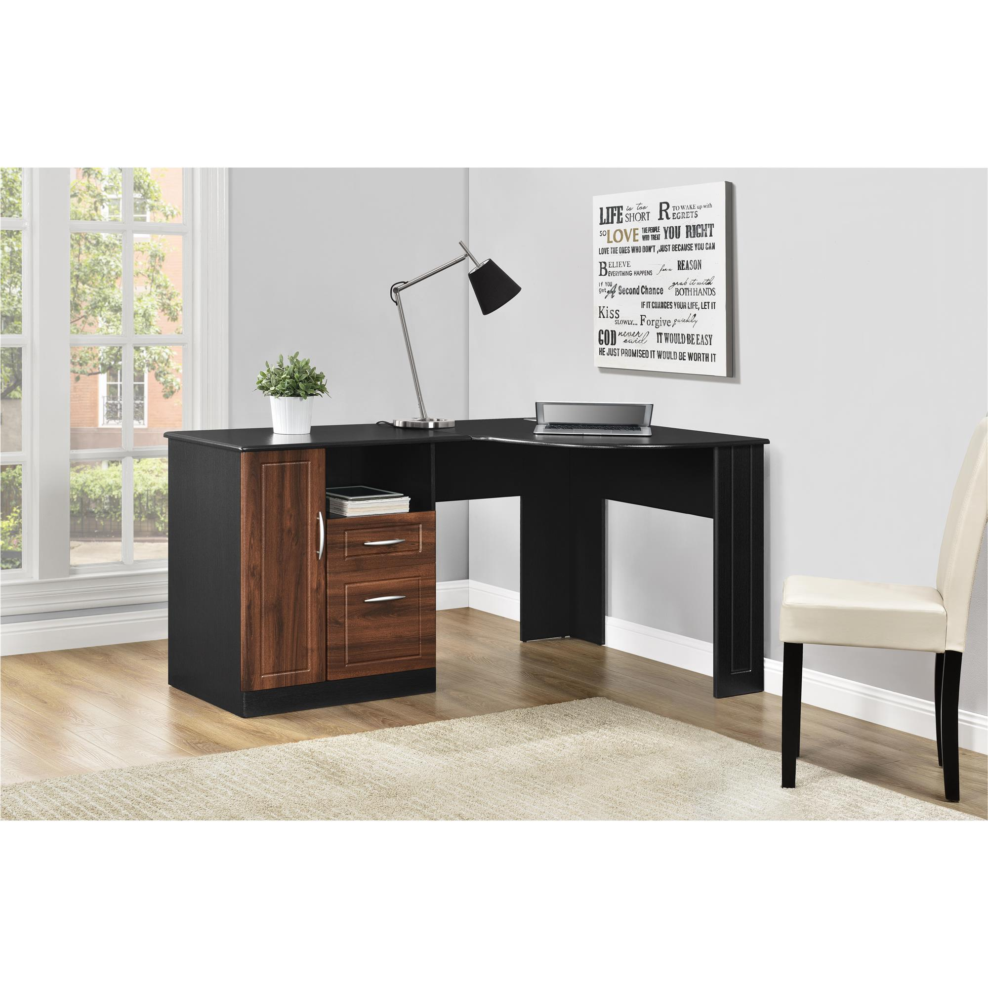 ameriwood furniture avalon corner desk black source cherry accent table little bedside dark wood end tables oriental vase lamp modern miami outdoor ideas backyard shade craigslist
