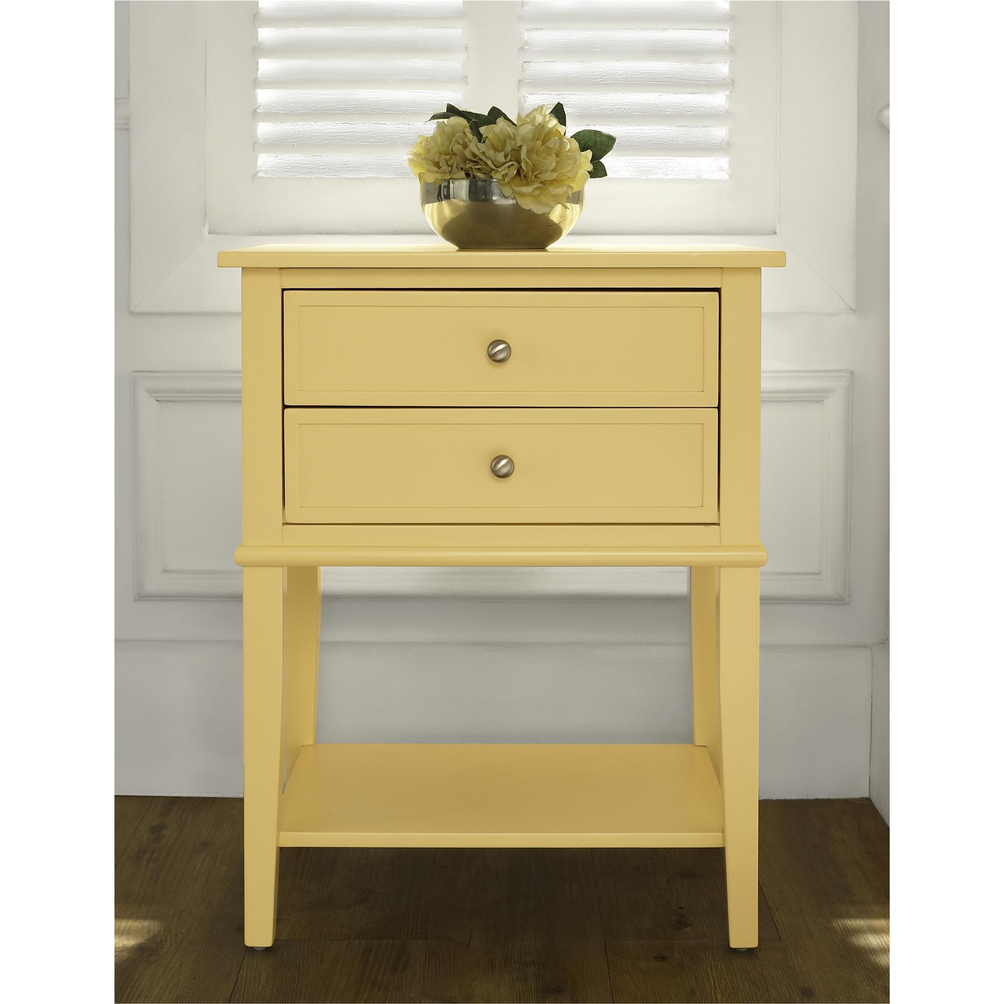 ameriwood furniture franklin accent table with drawers yellow source tipton round oriental floor lamps small apt outdoor bbq bright colored chairs pottery barn industrial coffee