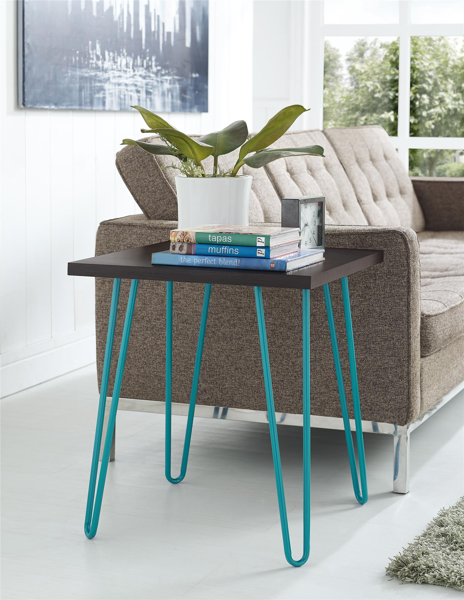 ameriwood furniture owen retro end table espresso teal source turquoise accent target long living room side designs skinny ikea linen storage boxes centerpiece decor small square