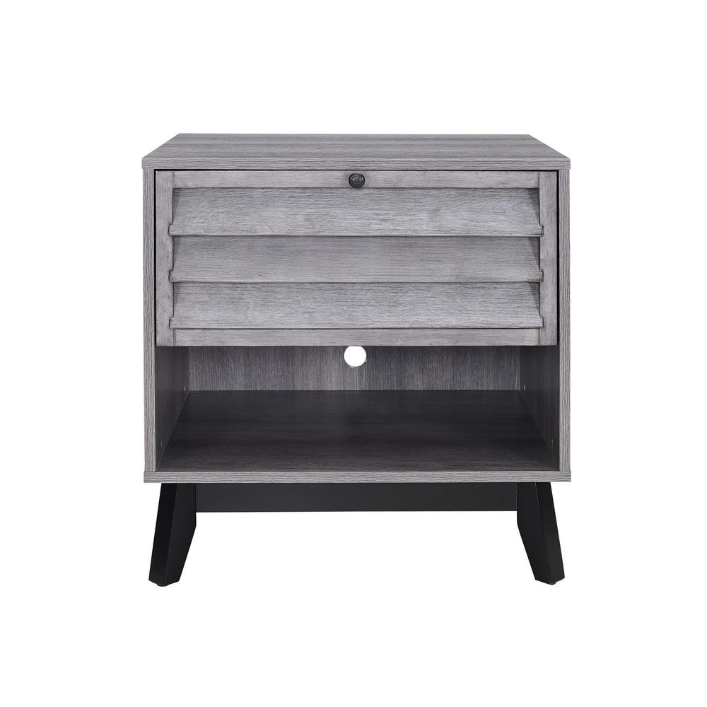 ameriwood gammon gray oak accent table the finish end tables grey wood outdoor patio furniture quilt rack asian lamps small glass top nursery nightstand round coffee pottery barn