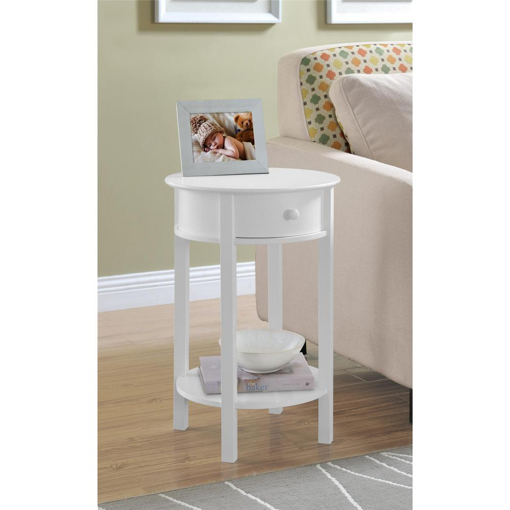 ameriwood hallmark white end table the altra furniture tables accent this review from tipton small gas grill counter height bench teak outdoor plastic patio glass with umbrella