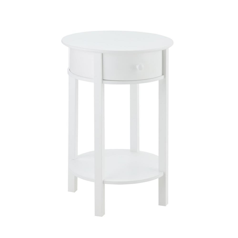 ameriwood hallmark white end table the finish tables tipton round accent uma small drop leaf coffee for bedroom aluminum umbrella tall narrow blue and pier one shower curtains