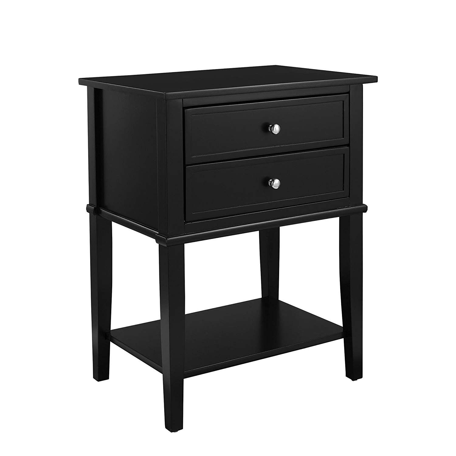 ameriwood home franklin accent table black with storage drawers kitchen dining antique ese lamps ikea living room chairs grey round coffee narrow for small spaces tall skinny