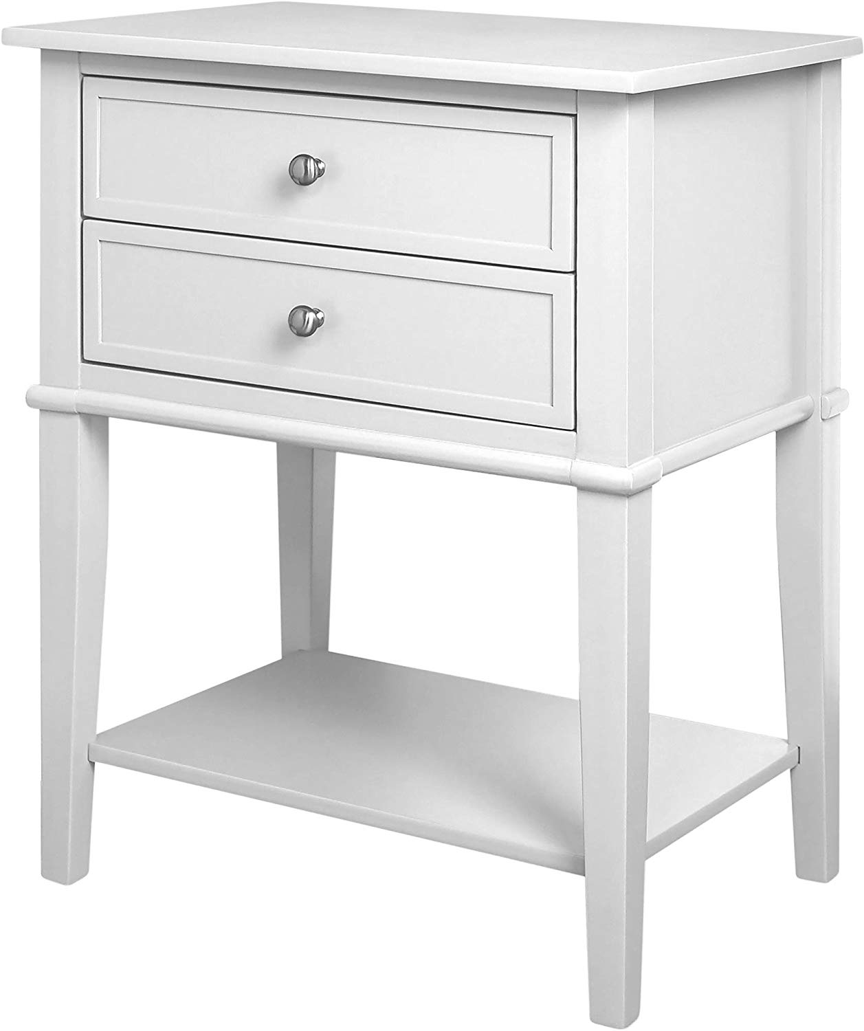 ameriwood home franklin accent table with drawers white kitchen dining nesting tables round skirts decorator glass patio umbrella hole small decorative closeout furniture marble