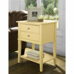 ameriwood home franklin yellow accent table with drawers free shipping today best dining room furniture armoire desk extendable marble hat stand solid wood end drawer inch round 150x150