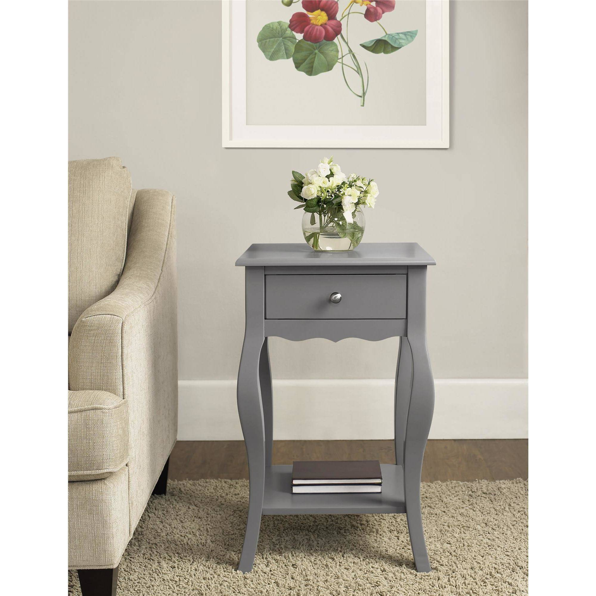 ameriwood home kennedy accent table gray grey antique buffet large patio cover ashley furniture loveseat double drop leaf legs diy small wood piece cocktail sets keter ice bucket