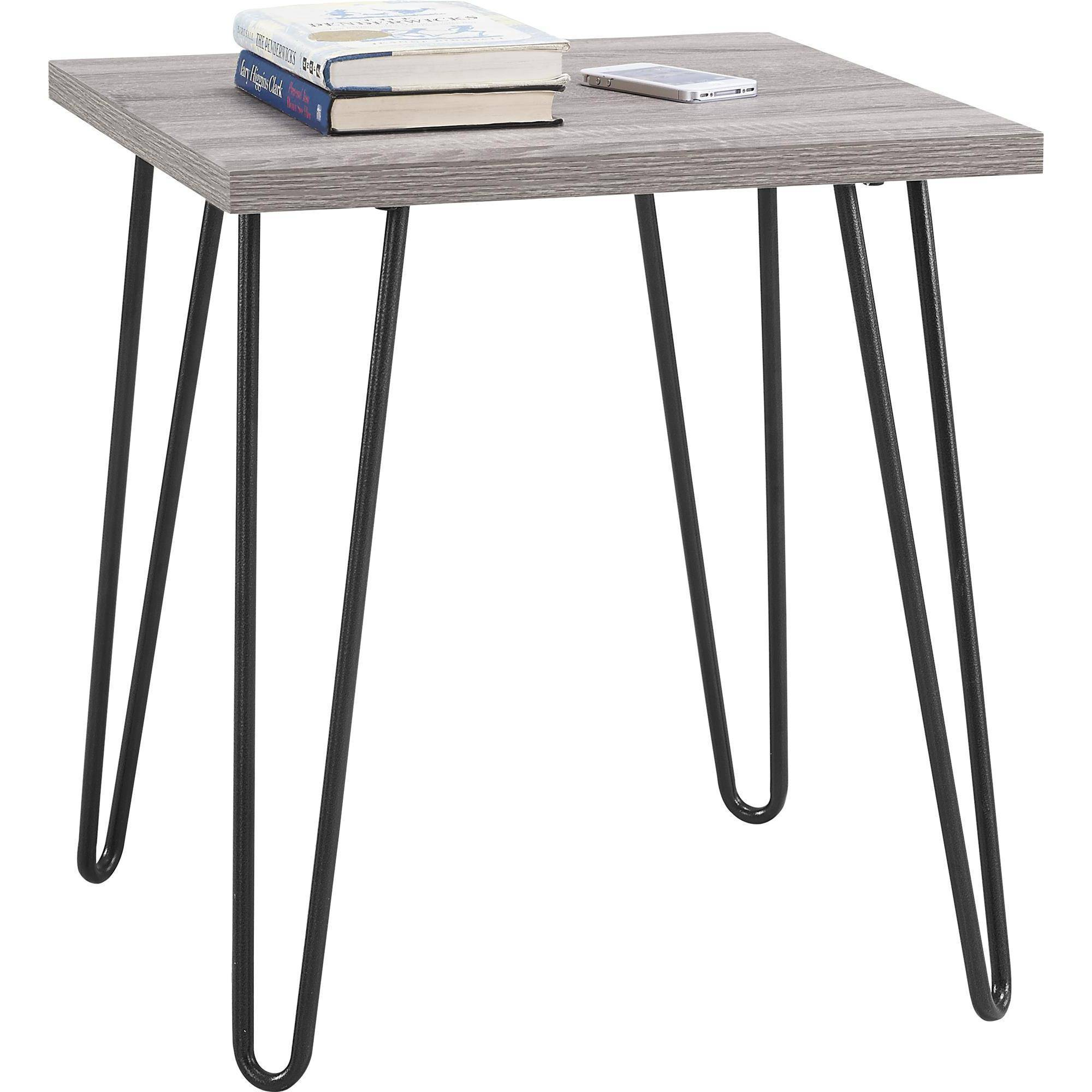 ameriwood home owen retro end table espresso teal hairpin leg accent black iron antique circular industrial look tables led night light pottery barn drum metal garden decor