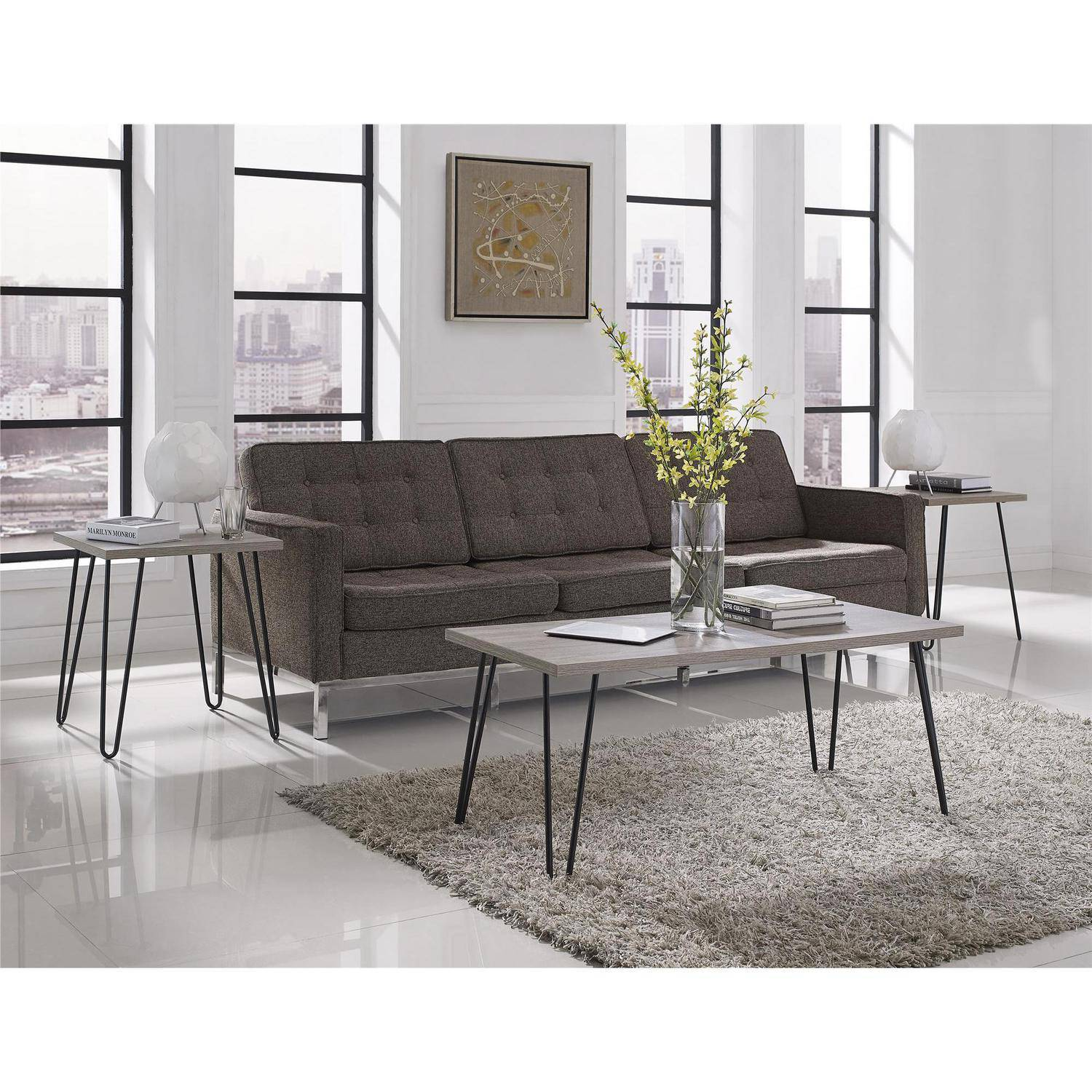 ameriwood home owen retro end table espresso teal room essentials hairpin accent marble top tulip side small with farm style coffee black drawers ethan allen ballan round red