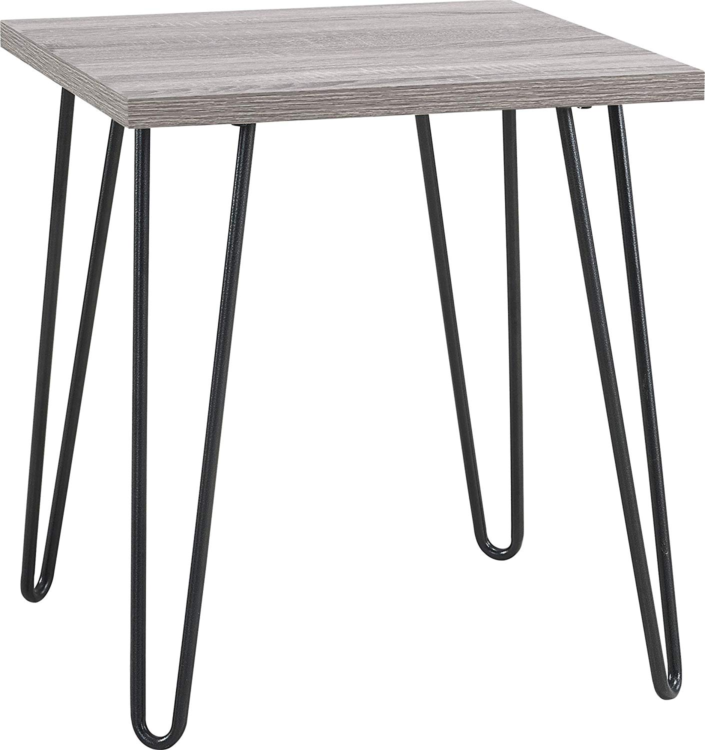 ameriwood home owen retro end table sonoma oak gunmetal gray light accent tables kitchen dining black gold ornaments coffee squares linens mirrored desk clear acrylic sofa outdoor