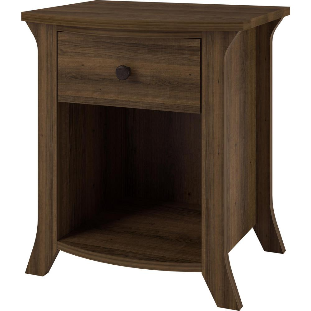 ameriwood home palma brown oak accent table the weathered end tables small ikea storage shelves with bins plastic outdoor furniture target wood and metal side white leather trunk