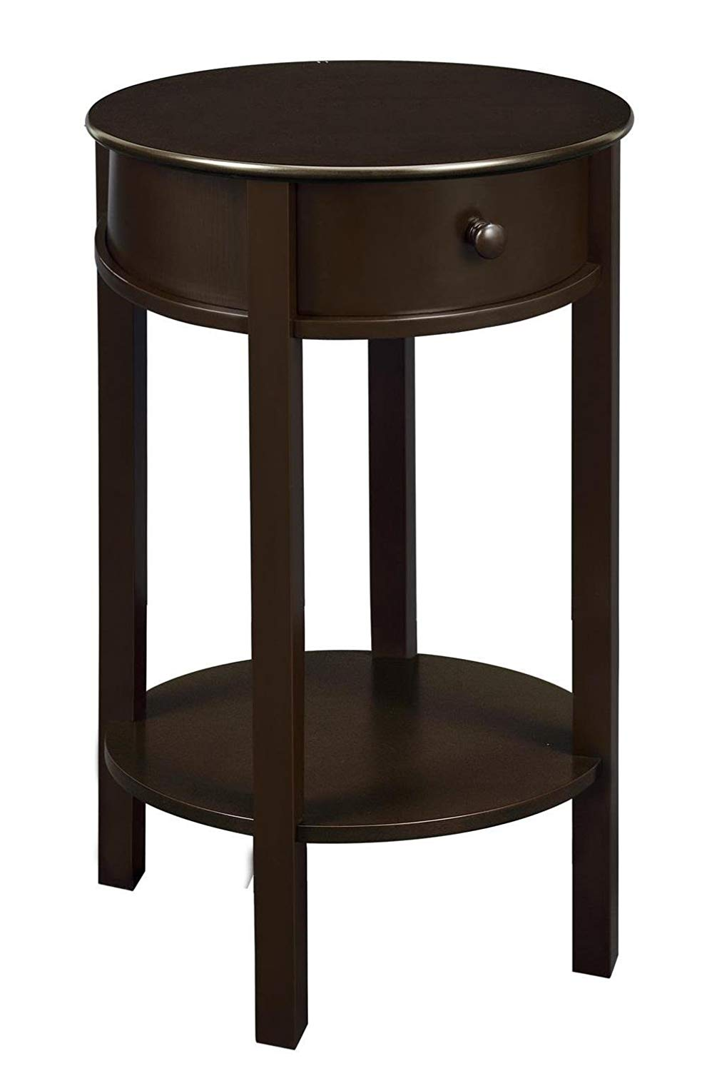 ameriwood home tipton round accent table espresso kyill set rosewood tall end tables coffee brown kitchen dining hidden storage furniture black glass living room baker lucite
