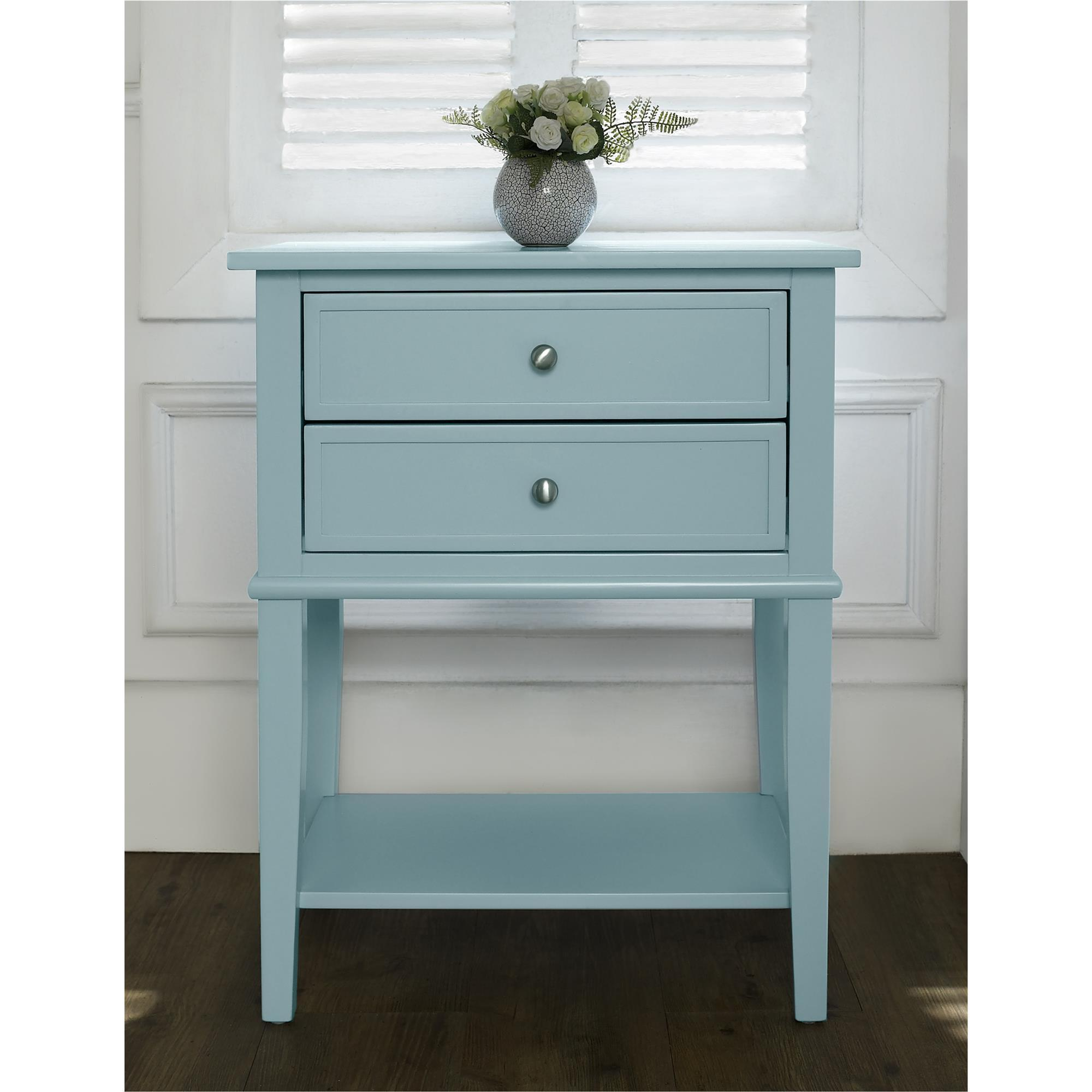 ameriwood home transitional franklin accent table with two drawers chest free shipping today bath and beyond registry login luau cupcakes mid century classic furniture ashley