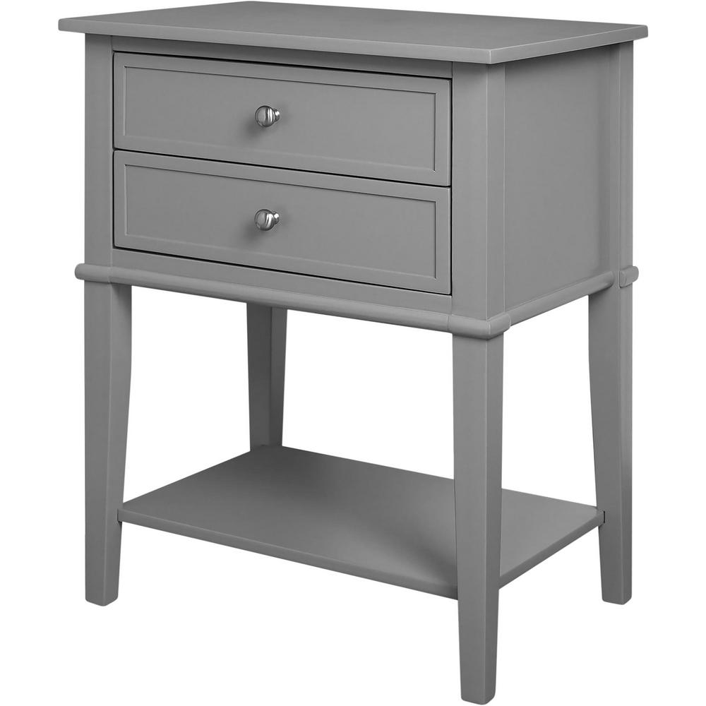 ameriwood queensbury gray accent table with drawers the console tables basket home goods lamp sets ikea black outdoor furniture champagne ice bucket thin sofa plant pedestal
