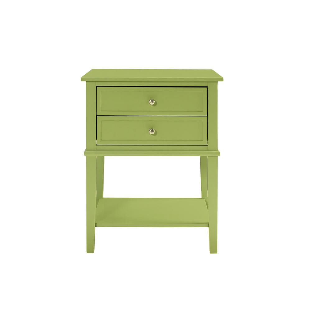 ameriwood queensbury green accent table with drawers the end tables dining room storage owings console black lacquer coffee battery powered standing lamp martin home furnishings