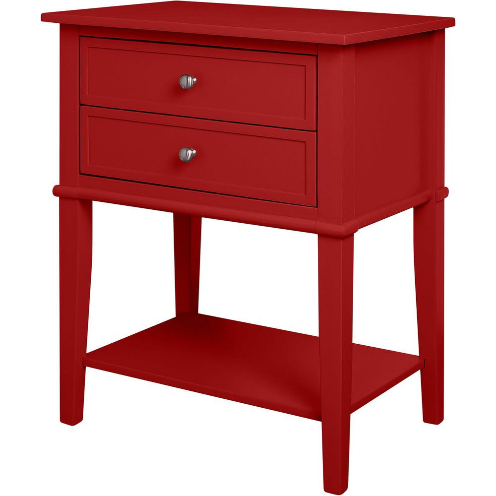 ameriwood queensbury red accent table with drawers the console tables chest outdoor umbrella beverage tub stand gresham furniture mcm narrow side drawer pineapple lamp home