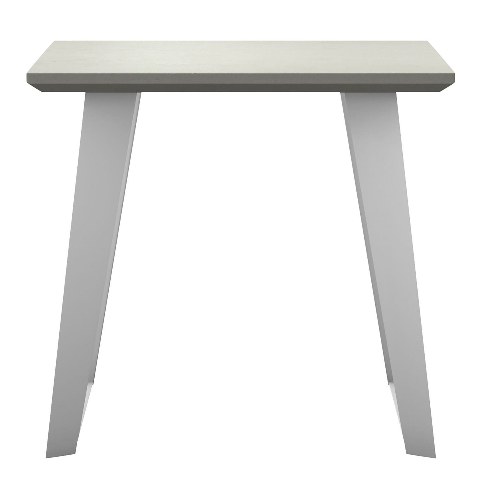 amsterdam outdoor side table modloft modern tables cressina concrete white sand painted base accent coffee and end pier one dining room porch patio furniture baroque half moon