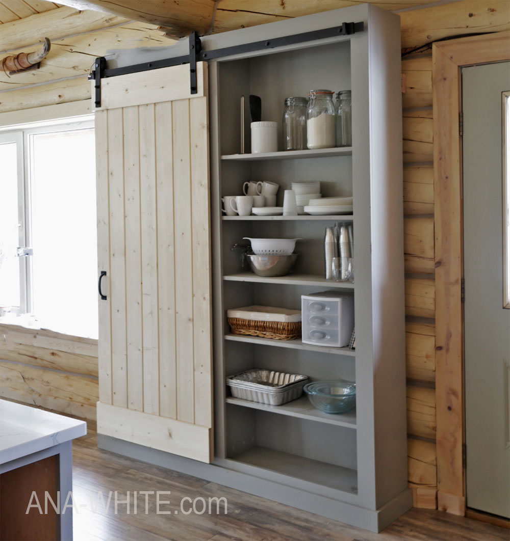 ana white barn door cabinet pantry diy projects accent table with hopkins furniture nautical dining room chandelier elm west side chair small armchair counter stand mirror slipper