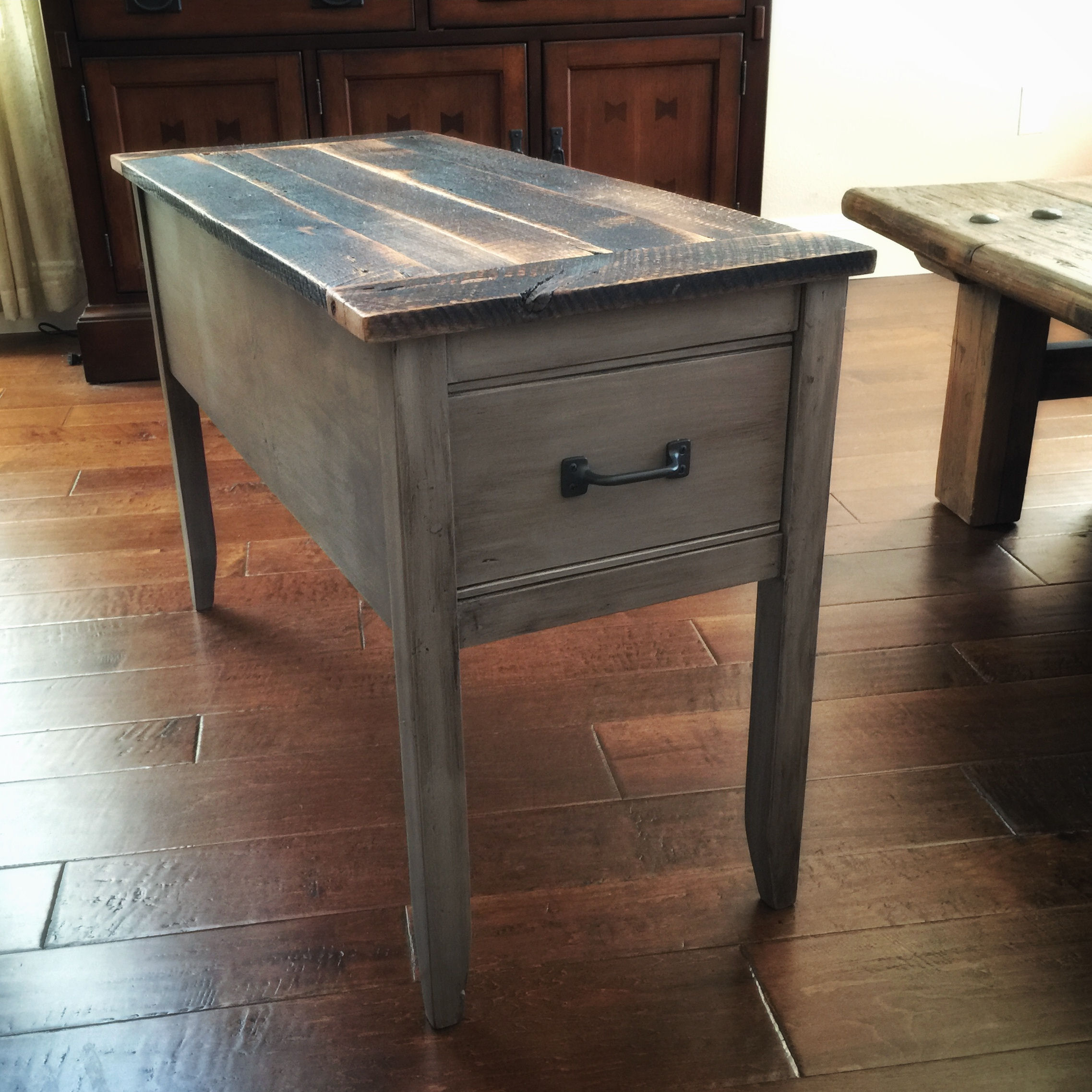 ana white barnwood narrow cottage end table diy projects side accent rustic farmhouse dining luxury tablecloths black coffee with drawers home goods runners ikea wooden storage