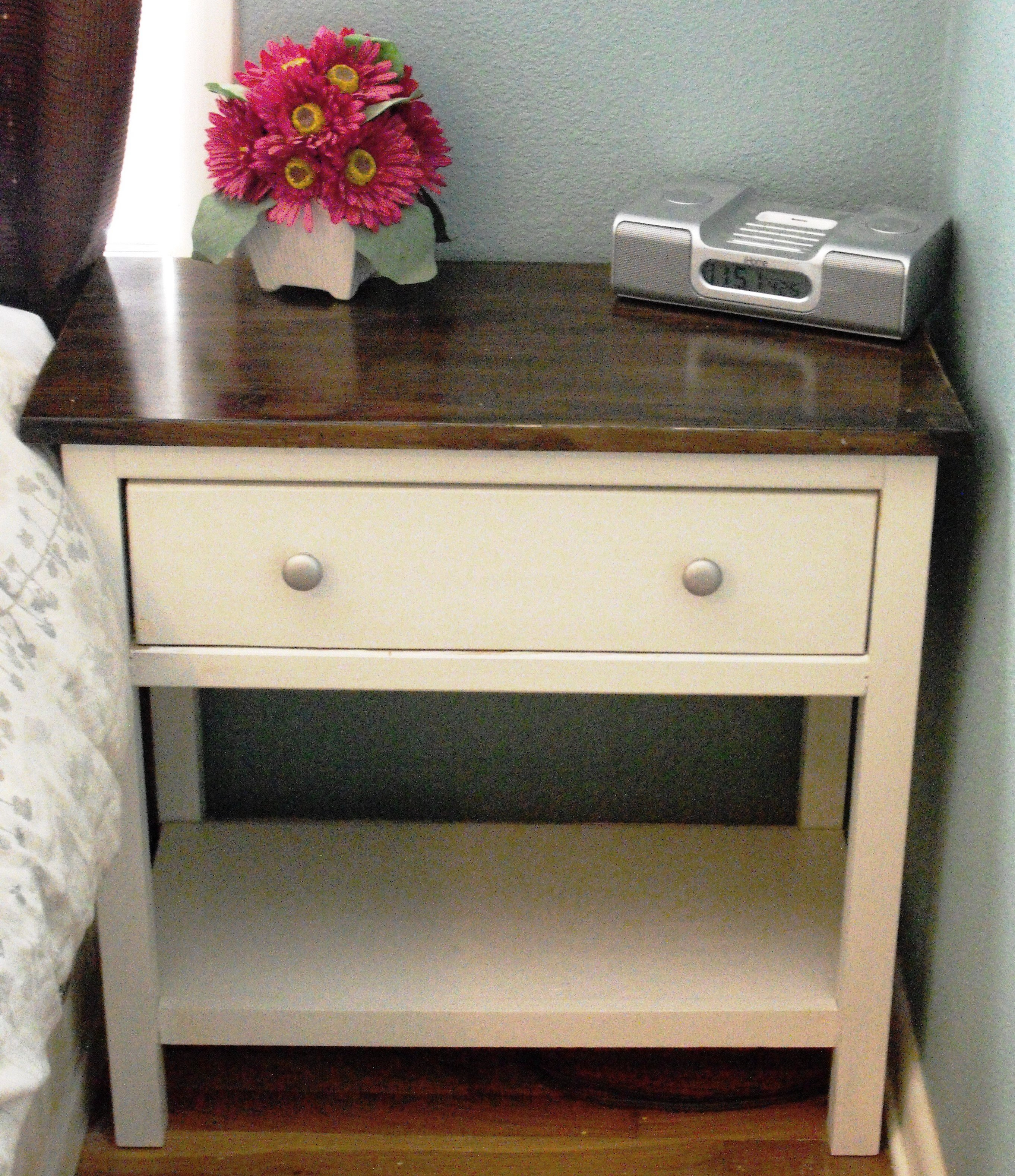 ana white farmhouse bedside table diy projects accent small pedestal side wood kitchen sets tall with storage red end narrow acrylic corner telephone ikea coffee and metal target