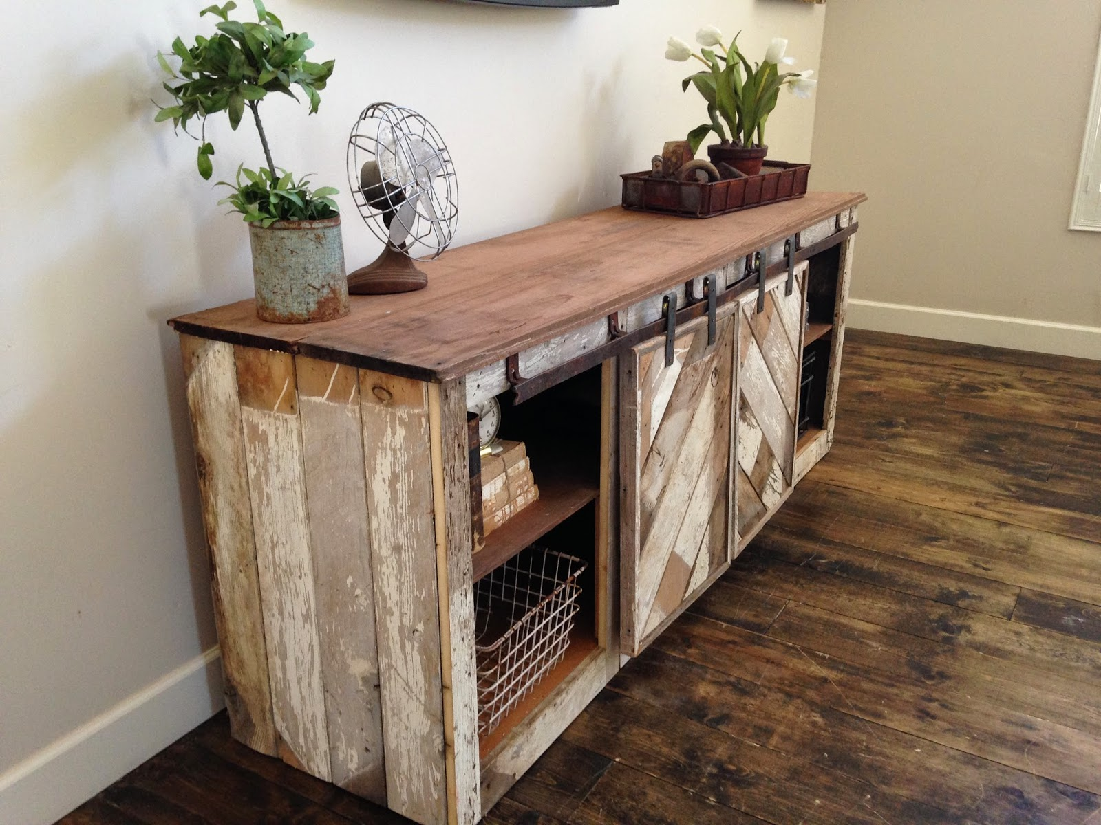 ana white grandy sliding door console diy projects accent table with doors rustic distressed barn furniture buffet cabinet chic coffee miniature lamps pottery frog drum couch legs