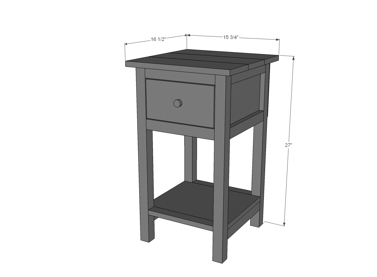 ana white mini farmhouse bedside table plans diy projects accent night unfinished furniture end tesco bistro set distressed wood coffee and tables round with screw legs outdoor