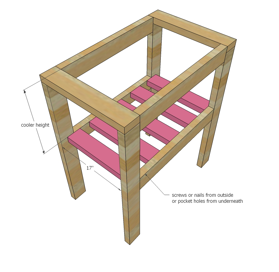 ana white pallet cooler stand diy projects plans step outdoor side table inch round plastic tablecloths placemats living room mirrored with drawer ikea toy storage cubes kmart