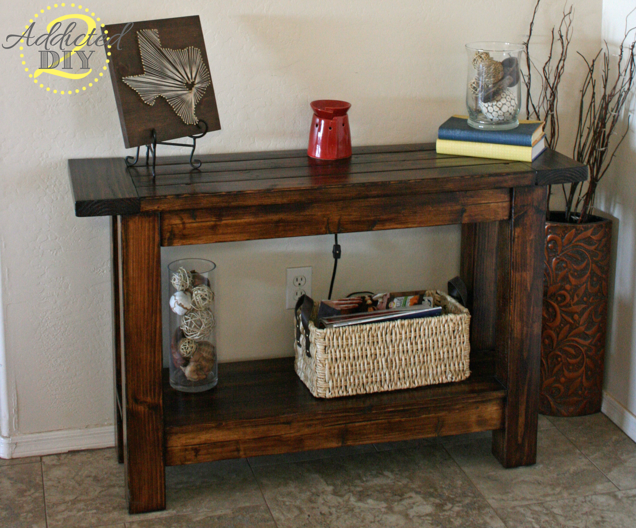 ana white pottery barn inspired console table diy projects accent with door sears outdoor furniture extra wide floor threshold meyda lily lamp small rattan side counter ikea toy