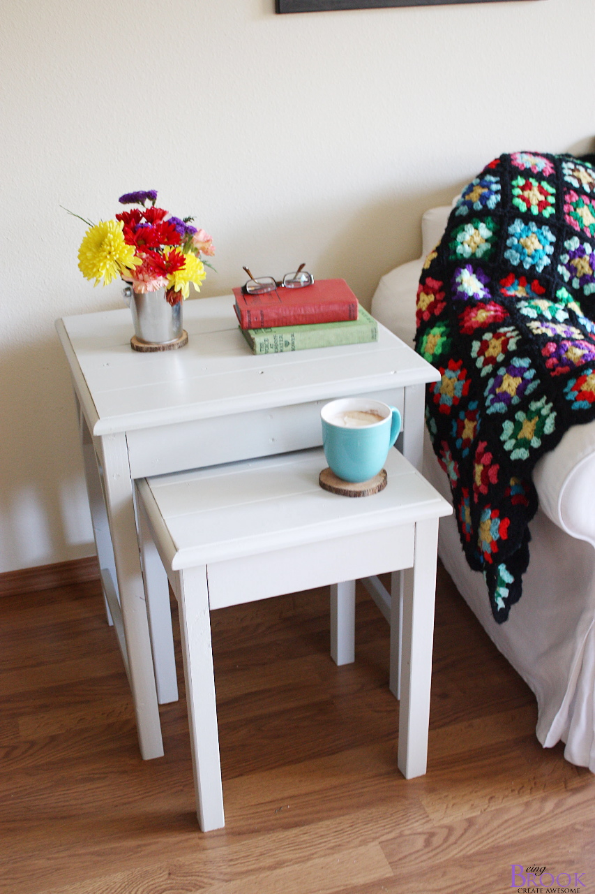ana white preston nesting side tables diy projects pottery barn flower accent table today hope you take second stop over and visit brooke being brook tell her thank compliment