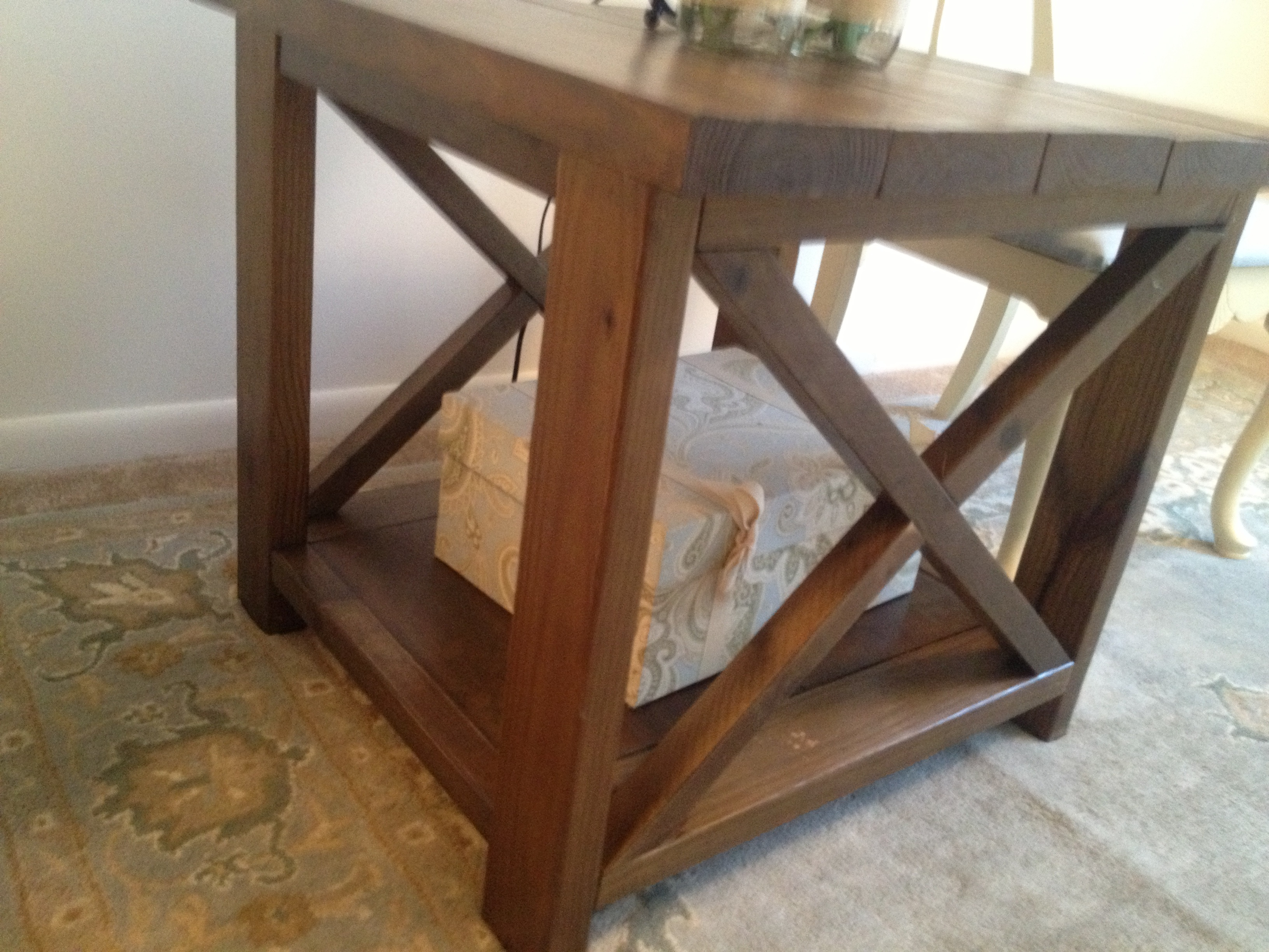 ana white rustic end tables diy projects accent table patio bar cover homemade barn door high top height drop leaf breakfast teton village farmhouse black lamp for living room