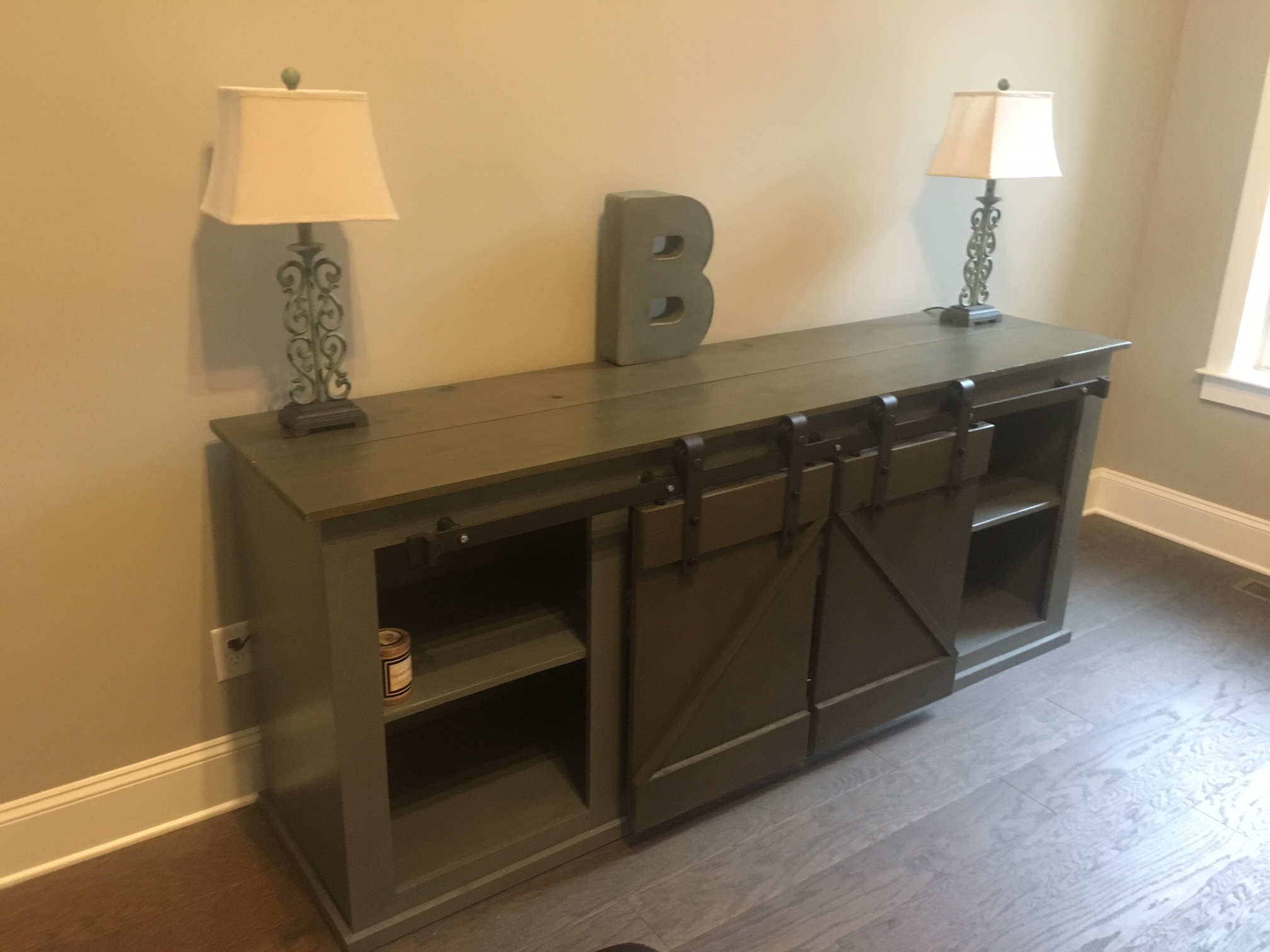 ana white sliding barn door media cabinet diy projects img accent table with ashley furniture leather recliners small armchair gray round end side design for drawing room painted