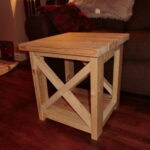 ana white smaller rustic end table diy projects small accent occasional chairs pub height dining laminate door bars side french style tables under sofa with stools underneath 150x150