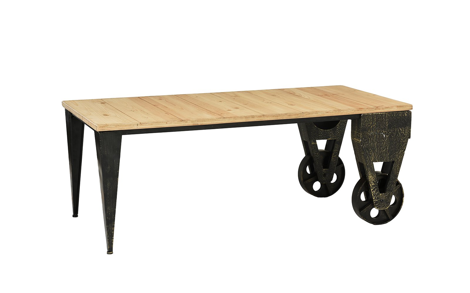 anders metal and natural wooden plank accent coffee table wood deep seated sofa custom hybrid unusual ideas pottery barn kids big lots dresser rattan drinks west elm white console