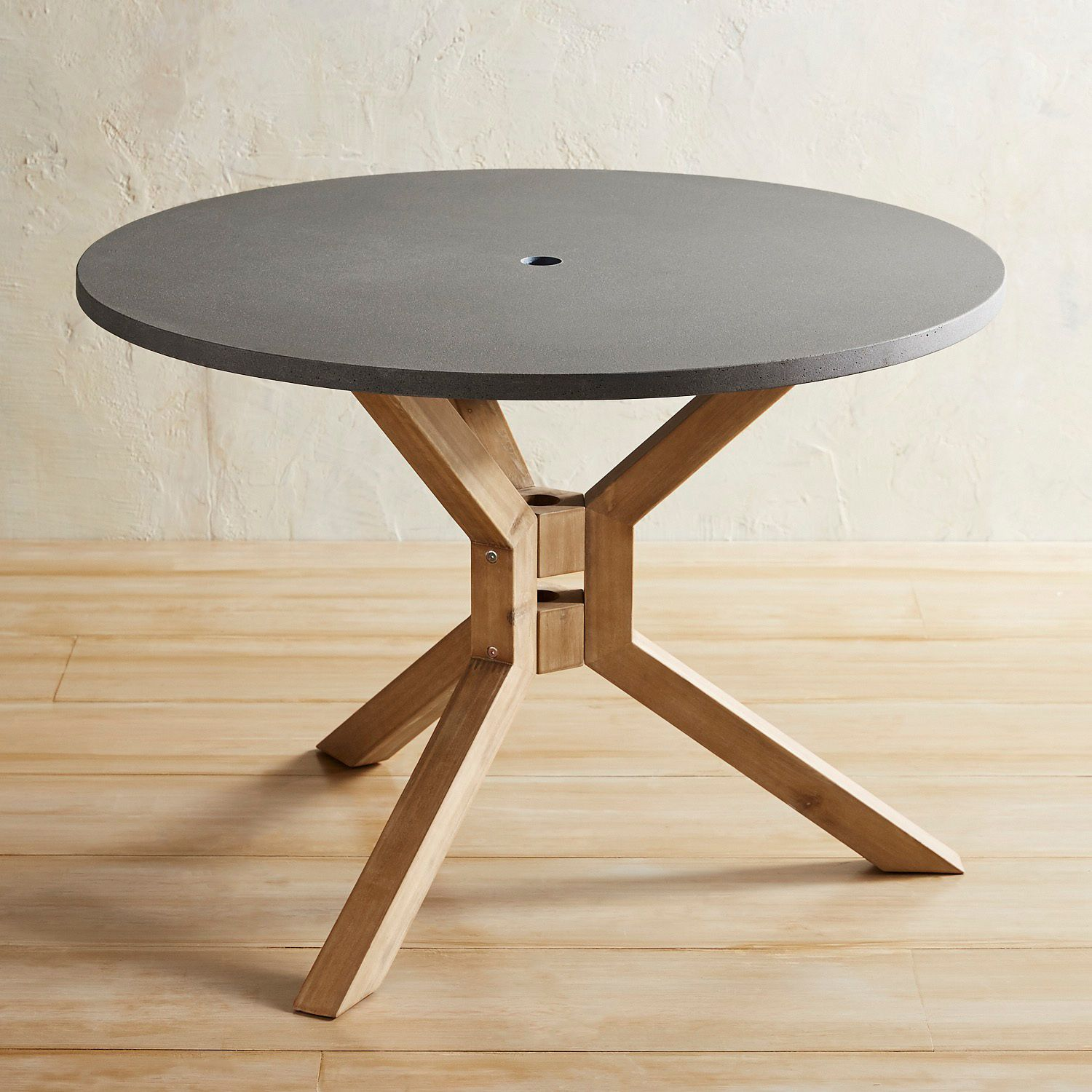 anders round polystone concrete dining table pier imports small accent tables one collection barn door designs wooden coffee with drawers room furniture slide under sofa outdoor