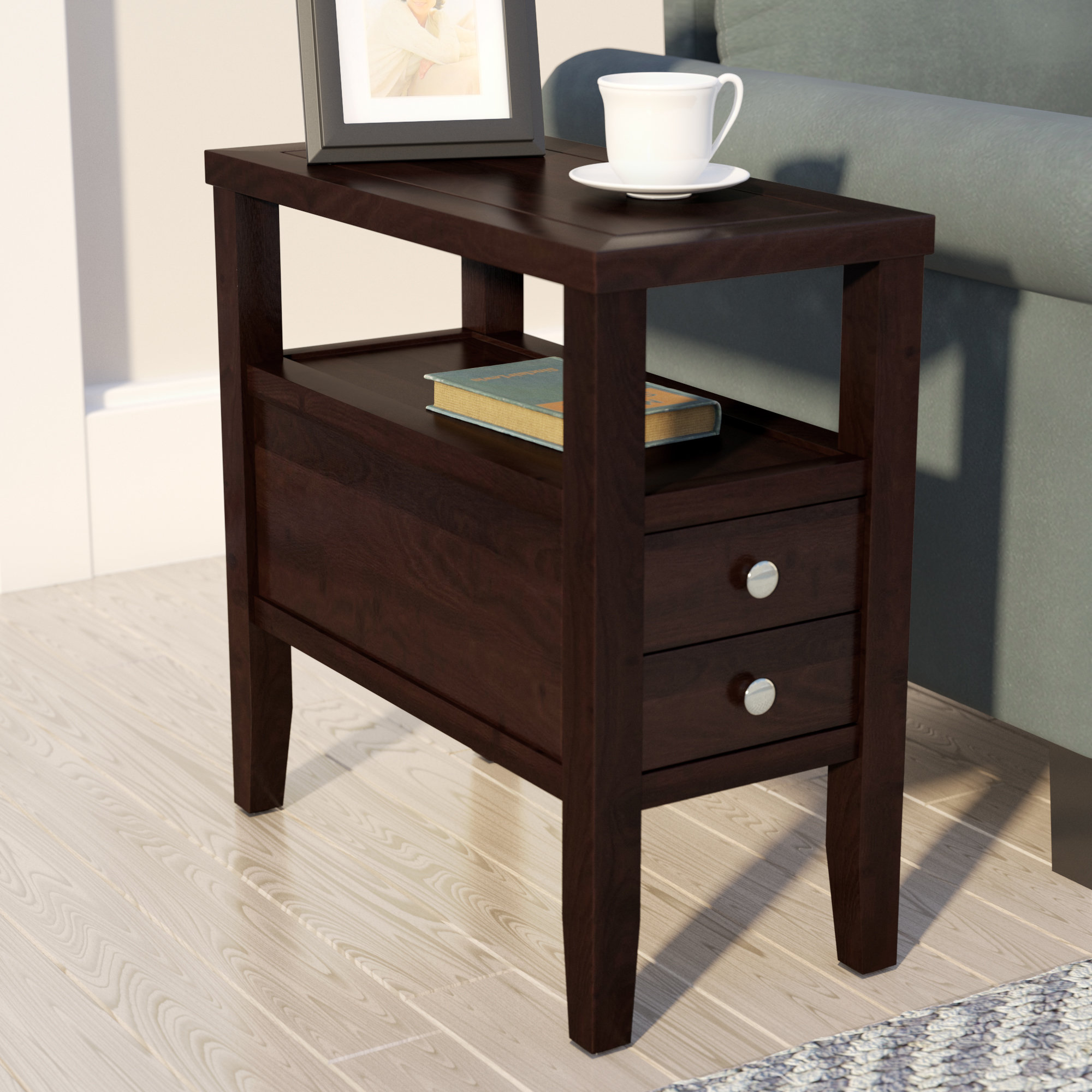 andover mills gahagan end table with storage reviews hadley accent drawer homeware decor argos coffee rustic blue round drawers tablecloth small metal patio reclaimed wood bar