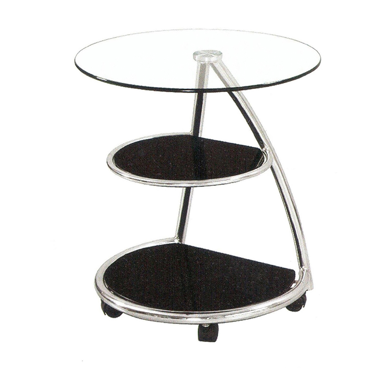 angel modern end table round black glass with storage shelves accent quick view living room tables dining chairs pedestal plant stand indoor red decor cherry bedroom furniture