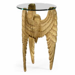 angels wing side table winged designer tables accent designs limited production design tall gold gilded partner wall mirrors chairs available hospitality residential interior 150x150