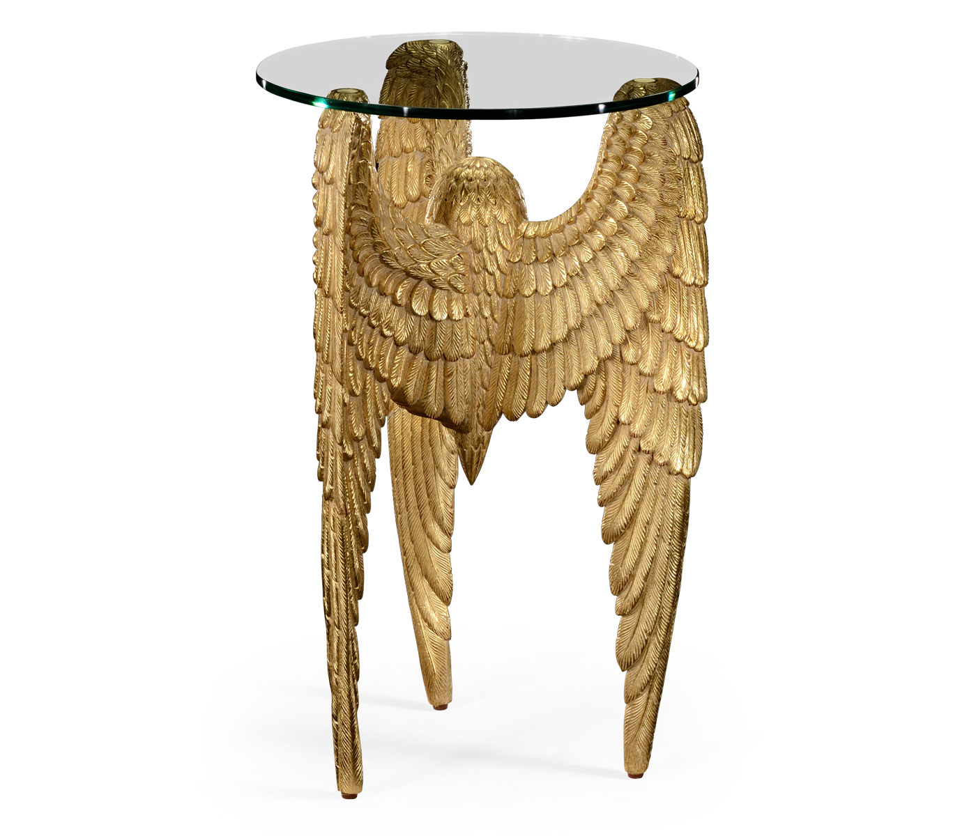 angels wing side table winged designer tables tall gold accent limited production design gilded partner wall mirrors chairs available hospitality residential interior butterfly