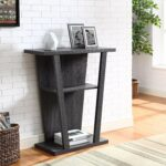angled contemporary hall console accent table weathered grey kitchen dining maple coffee concrete and glass black iron bedside silver decor gray end tables fine linens bedroom 150x150