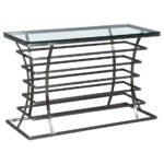 angular french lucite and glass console master chrome metal accent sofa table with shelf make your own barn door furniture fargo bar bunnings pottery corner desk diy coffee mini 150x150