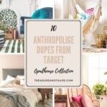 anthropologie dupes from target opalhouse collection treasure vintage collage appreciation graphic side table taupe blue furniture wooden bench seat bunnings contemporary hallway 150x150