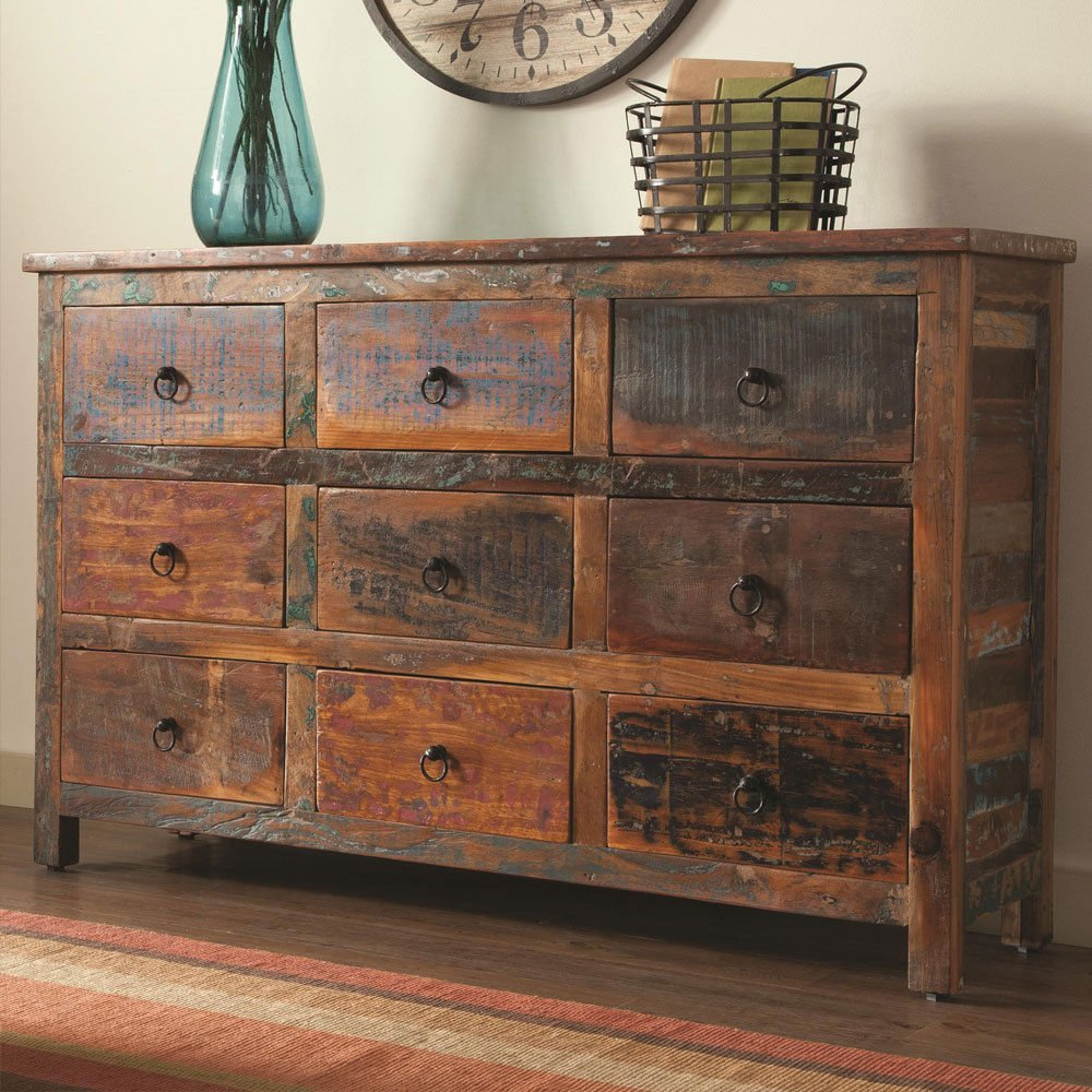 antique accent cabinet console table rustic with drawers reclaimed wood mix teak drawer petrified side decoration ideas copper desk lamp black wrought iron patio pedestal legs