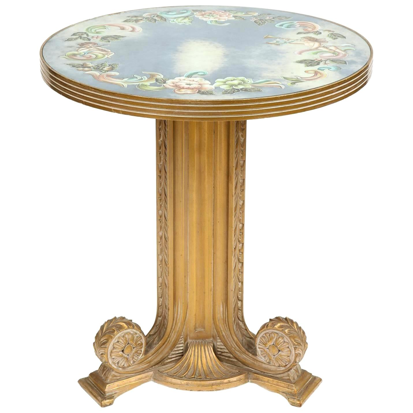 antique accent table brass handcrafted vintage centre wood tables gold desk lamp tall chairs cordless led lights martha stewart outdoor furniture half grey cabinet target mirrored